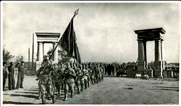 Знамя освобождения над Кременчугом.