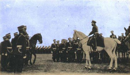 Выступление императора Николая 2 на строевом смотре 35 Брянского пехотного полка перед отправкой на русско-японскую войну