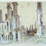 Зруйнований Кременчук. Малюнки з натури Селище залізничників 1943