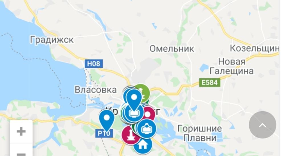 Туристическая карта Кременчугского района