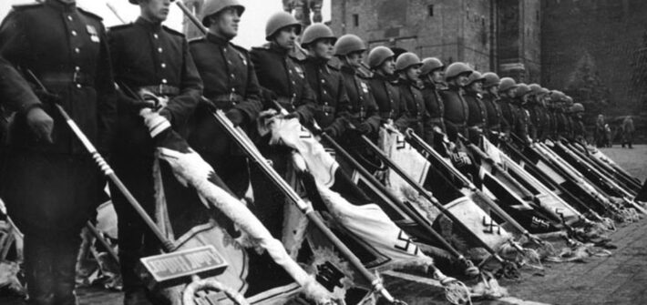 Кременчужане - участники парада победы 1945 года